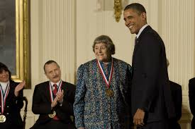 Yvonne Brill, rocket scientist, being honored by Pres. Obama